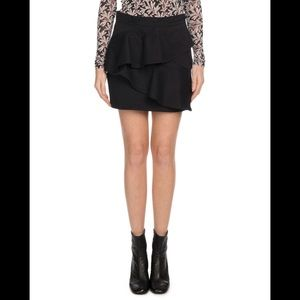 Isabel Marant Doali A-Line Cotton Mini Skirt Black